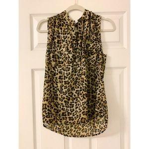 Leopard print tank blouse